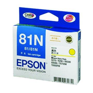 EPSON 愛普生T111450(81N XL) 黃色墨水匣