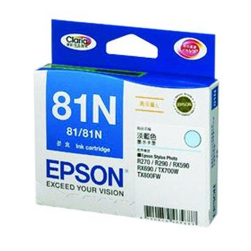 EPSON 愛普生T111550(81N XL) 淡藍色墨水匣