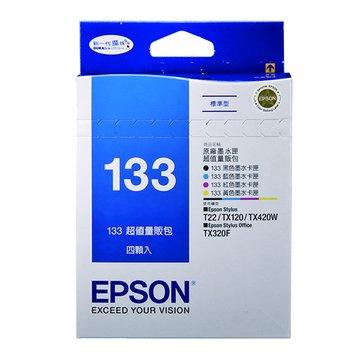 EPSON 愛普生T133650 黑/紅/黃/藍色墨水匣