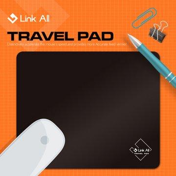 Link All KD01 / 黑 / 舒適耐用滑鼠墊