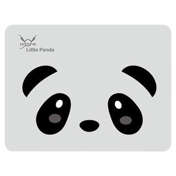 eZova 竹炭滑鼠墊/熊貓/灰底