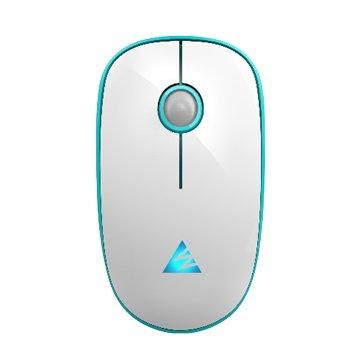 WINTEK 1600無線2.4G充電滑鼠(圓白藍)