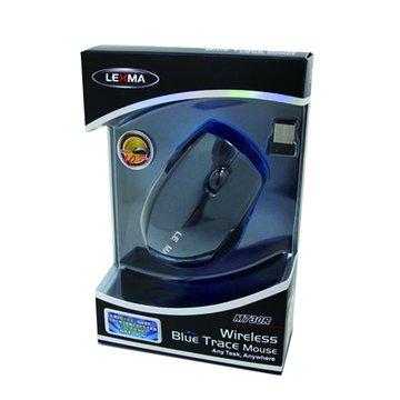 Lexma 藍灰/M730R 2.4G無線藍光滑鼠