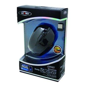 Lexma 黑/M700R 2.4G無線藍光滑鼠