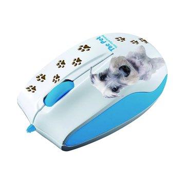 Lexma 藍/M722 THE PET藍光滑鼠/USB