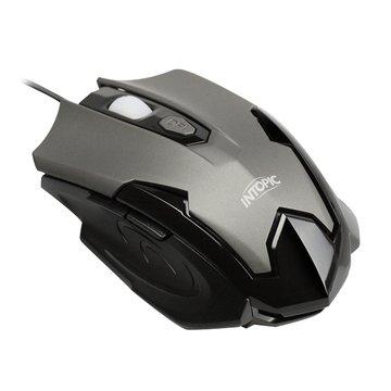 INTOPIC 廣鼎MS-080-GR飛碟鼠/USB(鐵灰)