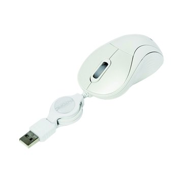 INTOPIC 廣鼎 白/MS-R058飛碟捲線鼠/USB
