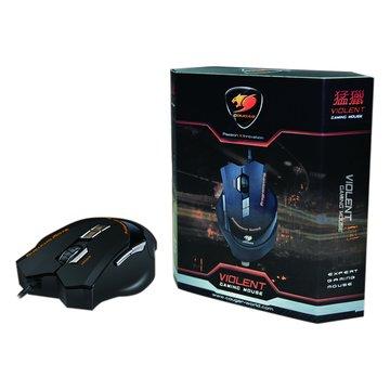 HEC 偉訓 黑/VIOLENT猛獵電競滑鼠/USB