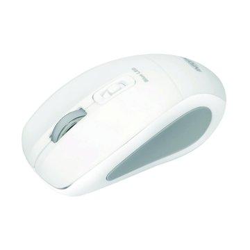 INTOPIC 廣鼎MSW-BL560飛碟無線藍光鼠(白)