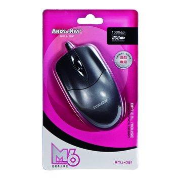 ANDY愛MAY MAY 安迪愛美眉 M6超精準光學鼠/USB(鐵灰)