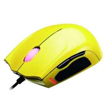 Thermaltake 曜越聖武士SAPHIRA光學電競滑鼠/USB(黃)