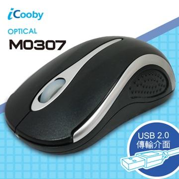 iCooby M0307BS光學滑鼠/USB(黑銀)