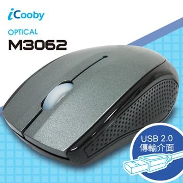 iCooby M3062SW光學滑鼠/USB(銀白)