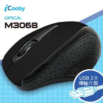 iCooby M3068BB光學滑鼠/USB(皮革黑)