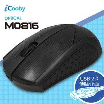 iCooby M0816B光學滑鼠/USB(黑)