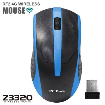 PC Park Z3320BB無線滑鼠(黑藍)