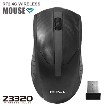 PC Park Z3320BK無線滑鼠(黑)