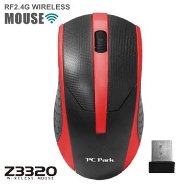 PC Park Z3320BR無線滑鼠(黑紅)