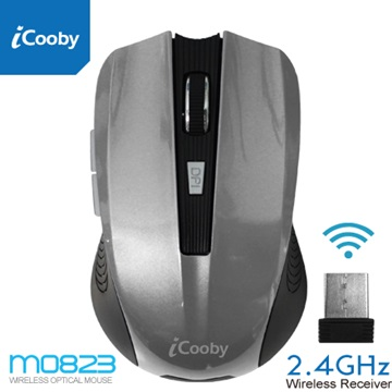 iCooby M0823GY無線光學鼠(鋼鐵灰)