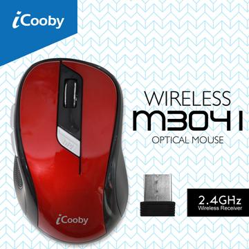 iCooby M3041RD無線光學鼠(魔影紅)