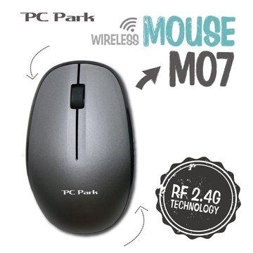 PC Park M07S 3D商務無線光學滑鼠/USB(銀黑)