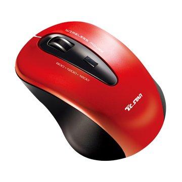T.C.STAR 連鈺TCN635RD 無線藍光鼠(紅)