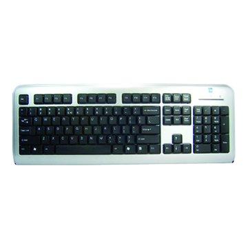 A4 銀黑/LCD-720時尚超薄鍵盤/PS2(福利品出清)