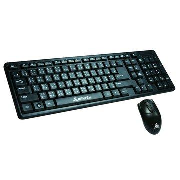 WINTEK 文鎧WM600二代新黑蝙蝠光學鍵鼠組P+U(黑)