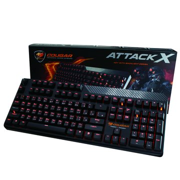 HEC 偉訓 黑/COUGAR美洲獅紅軸機械式鍵盤/USB(福利品出清)