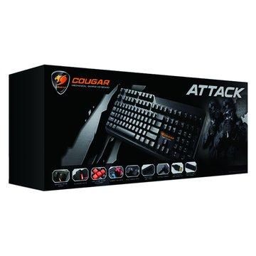 HEC 偉訓 黑/COUGAR美洲獅黑軸機械式鍵盤/USB(福利品出清)