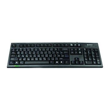 A4 KR85圓角舒 防水鍵盤/PS2(黑)