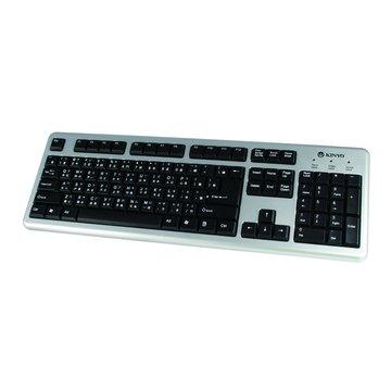KINYO 金葉 銀黑/KB-22U標準鍵盤/USB(福利品出清)