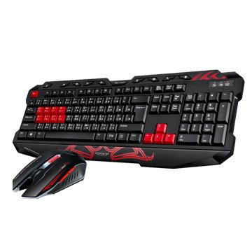 T.C.STAR 連鈺KIT9900RD 有線電競鍵鼠組/USB(紅)