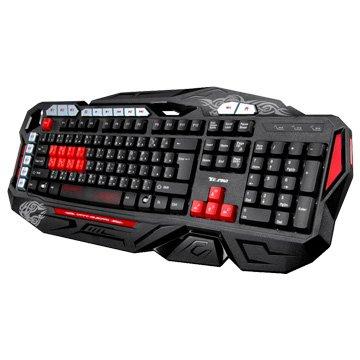 T.C.STAR 連鈺TCK803RD 電競鍵盤/USB(紅)