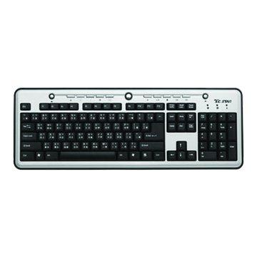 T.C.STAR 連鈺 銀黑/TCK660多媒體鍵盤/USB(福利品出清)