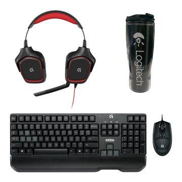 Logitech 羅技 G100s鍵鼠+G230耳麥組合包(贈隨行杯)/原廠保固一年(福利品出清)