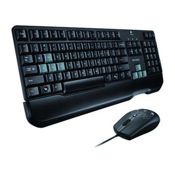 Logitech 羅技 黑/G100遊戲有線鍵鼠組/USB(福利品出清)