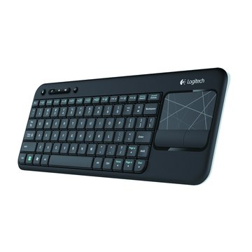 Logitech 羅技 黑/K400無線觸控板鍵盤(福利品出清)