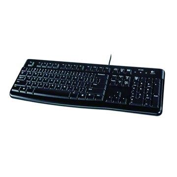 Logitech 羅技K120有線鍵盤/USB(黑)