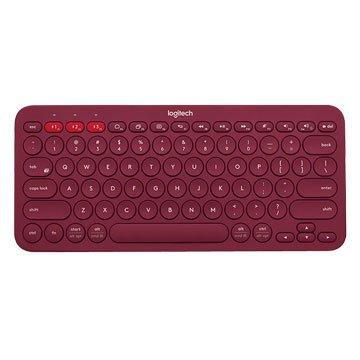 Logitech 羅技 K380藍芽多功鍵盤(紅)(福利品出清)