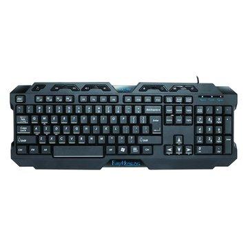 FOXXRAY FXR-BK-03怒嚎戰狐電競鍵盤(黑)(福利品出清)