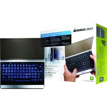 IOGEAR 黑/GKM571R 2.4G無線多媒體迷你鍵盤/USB(福利品出清)