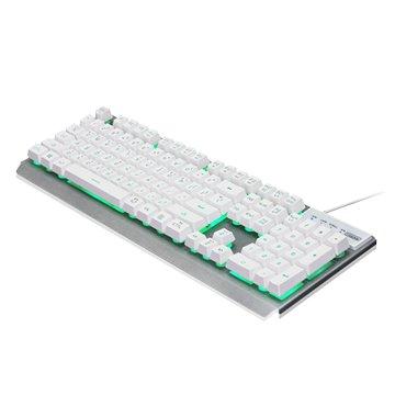 i-rocks 艾芮克K62E多色彩金屬背光遊戲鍵盤/USB(白)