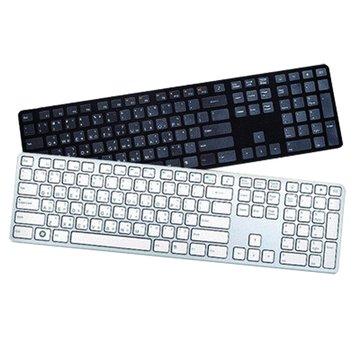i-rocks 艾芮克 KR-6402鋁合金薄型巧克力鍵盤/USB(黑)(福利品出清)