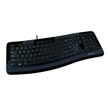 Microsoft 微軟 黑/3000舒適曲線鍵盤/USB(福利品出清)