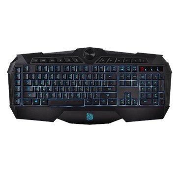 曜越 挑戰者三色炫彩背光版電競鍵盤/USB(黑)
