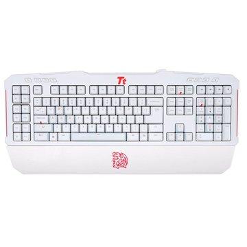 Thermaltake 曜越 拓荒者MEKA G-Unit黑軸電競機械式鍵盤(白)(福利品出清)