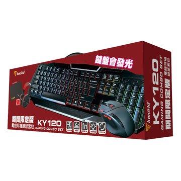 KWORLD KY120電競耳機鍵鼠套包期間限定版