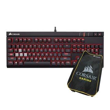 CORSAIR 海盜船 STRAFE 青軸/機械電競鍵盤送鍵盤包(中文)