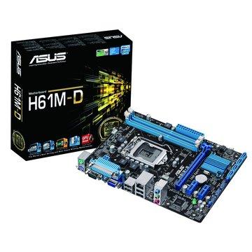 ASUS 華碩 H61M-D/1155/H61 主機板